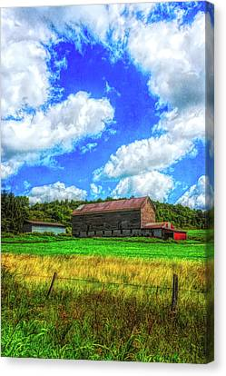 Canvas Print featuring the photograph Herkimer County Barn by Guy Whiteley