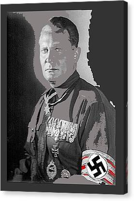 Herman Goering Portrait With His Medals Including The Blue Max Circa 1935-2016 Canvas Print by David Lee Guss