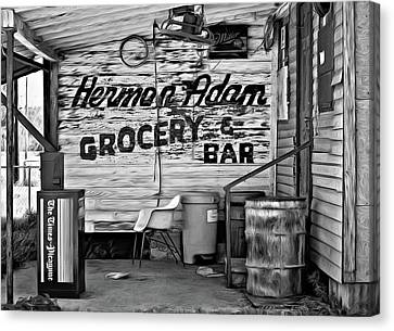 Herman Had It All - Paint Bw Canvas Print