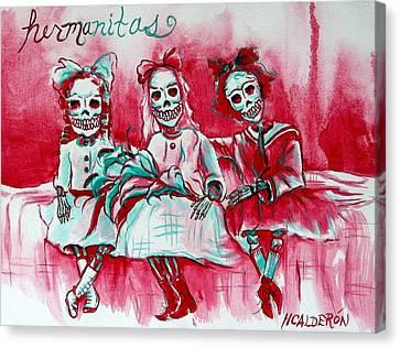 Hermanitas Canvas Print by Heather Calderon