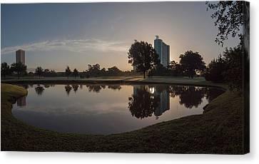 Canvas Print featuring the photograph Hermann Park Sunrise by Joshua House