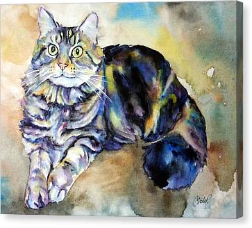 Canvas Print featuring the painting Hermione by Christy Freeman