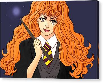 Hermione Granger  Canvas Print by Jennifer Campbell