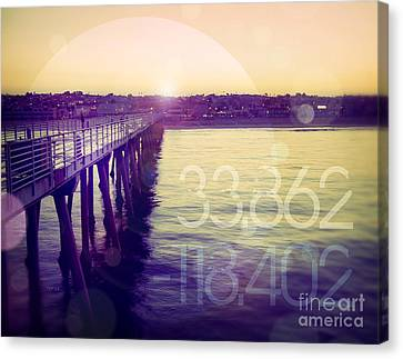 Canvas Print featuring the photograph Hermosa Beach California by Phil Perkins