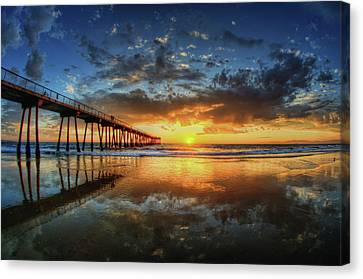 Beauty In Nature Canvas Print - Hermosa Beach by Neil Kremer