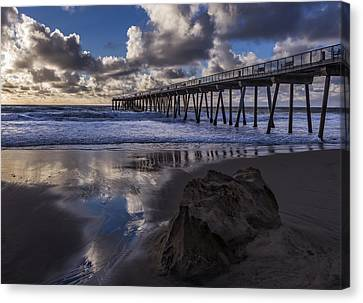 Hermosa Beach Pier Canvas Print by Ed Clark
