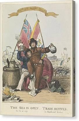 Hernieuwde Vriendschap Tussen Nederland En Groot Brittannie 1813 Anonymous 1813 Canvas Print by R Muirhead Art