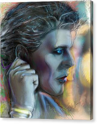 Heroes, David Bowie Canvas Print by Mark Tonelli
