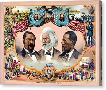 Heroes Of The Colored Race Poster 1881 Restored Canvas Print