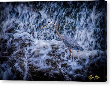 Canvas Print featuring the photograph Heron Falls by Rikk Flohr