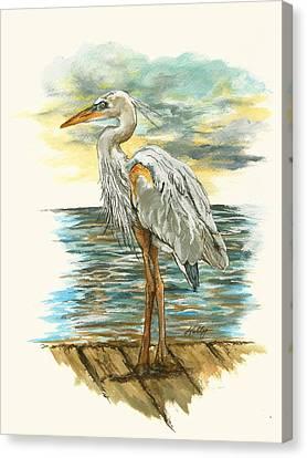 Heron Canvas Print by Kathleen Kelly Thompson