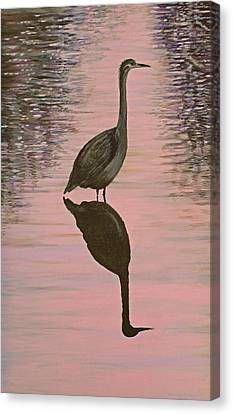 Heron Canvas Print by Laurie Stewart