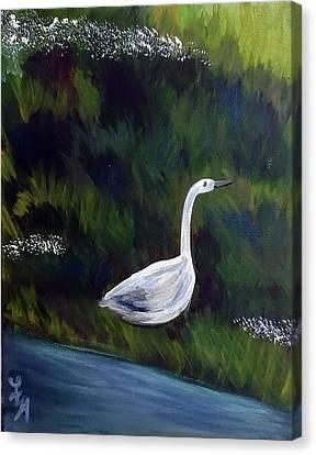 Heron Canvas Print by Loretta Nash