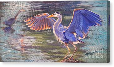 Heron Majesty Canvas Print