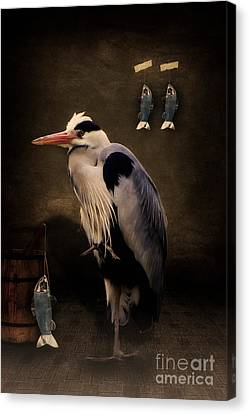 Heron's Home Canvas Print by Angela Doelling AD DESIGN Photo and PhotoArt