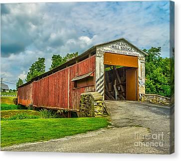 Herr's Mill Bridge - Pa Canvas Print
