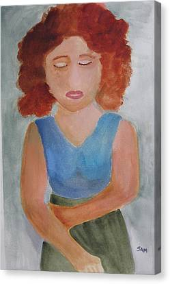 Canvas Print featuring the painting Herself by Sandy McIntire