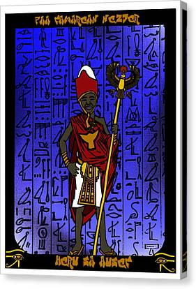 Heru Sa Aset Canvas Print by Derrick Colter