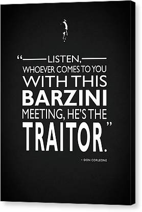 Hes The Traitor Canvas Print by Mark Rogan