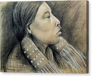 Hesquiat Maiden Canvas Print by Linda Nielsen
