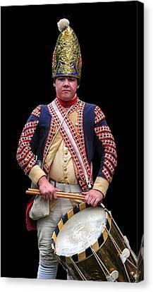 Independance Canvas Print - Hessian Grenadier Drummer by Dave Mills