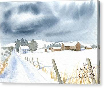 Hester Homeplace Canvas Print by Denise   Hoff