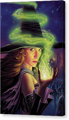 Hex Of The Wicked Witch Canvas Print by Philip Straub