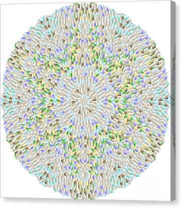 Hexagonal-based Pattern No.212.9 Canvas Print