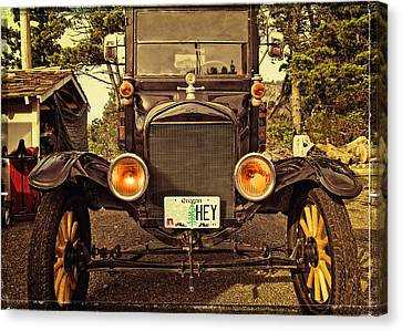Hey A Model T Ford Truck Canvas Print