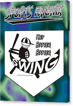 Hey Batter Batter Swing Canvas Print by Maria Watt