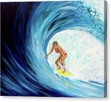Hey Betty Surfer Girl Canvas Print