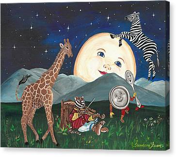 Hey Diddle Diddle Canvas Print by Sundara Fawn