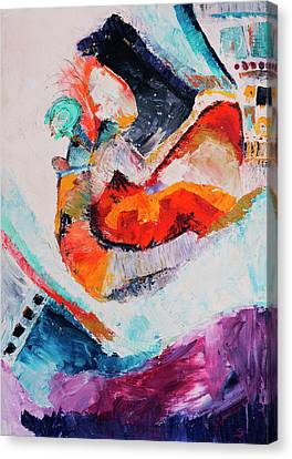 Canvas Print featuring the painting Hey Mr. Spaceman by Stephen Anderson
