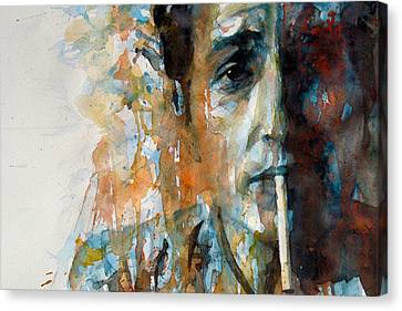 Bob Dylan Canvas Print - Hey Mr Tambourine Man @ Full Composition by Paul Lovering