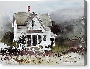 Heyl House, Minneapolis, Kansas Canvas Print by Monte Toon