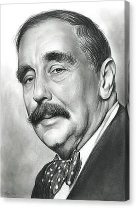 H.g. Wells Canvas Print by Greg Joens