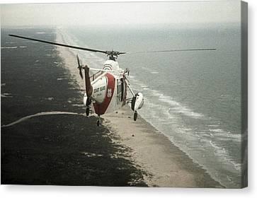 Hh-52a Beach Patrol Canvas Print by Steven Sparks