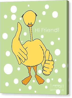 Hi Friend Canvas Print by Kids Lolll
