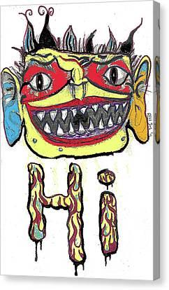 Hi Canvas Print by Robert Wolverton Jr