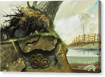 Groundhog Canvas Print - Hibernation by David Nockels