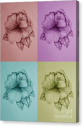 Hibiscus 16-02 Canvas Print by Maria Urso
