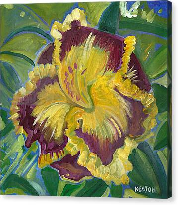Canvas Print featuring the painting Hibiscus 2 by John Keaton