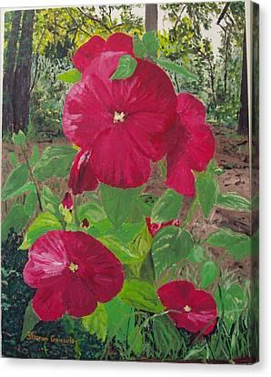 Hibiscus 2 Canvas Print by Sharon  De Vore