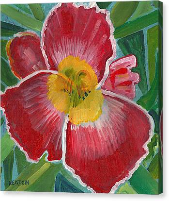 Canvas Print featuring the painting Hibiscus 3 by John Keaton