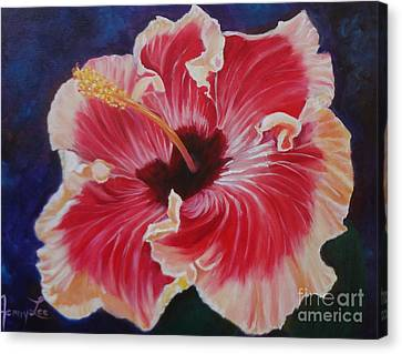 Canvas Print featuring the painting Hibiscus by Jenny Lee