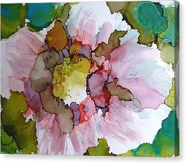 Hibiscus Canvas Print by P Maure Bausch