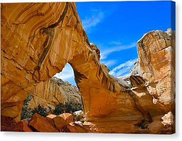 Hickman Bridge Natural Arch - Capitol Reef National Park Canvas Print by Dany Lison