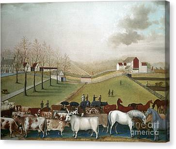 Aodng Canvas Print - Hicks: Cornell Farm, 1848 by Granger