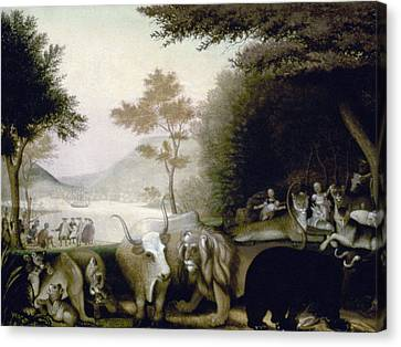 Hicks: Peaceable Kingdom Canvas Print by Granger