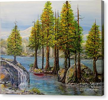 Hidden Alpine Lake Canvas Print